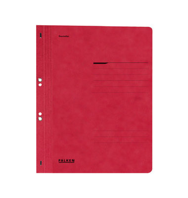 Ösenhefter A4 Amtsheftung / kaufmännische Heftung rot voller Vorderdeckel