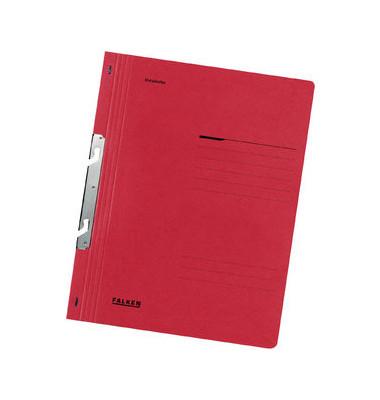 Schlitzhefter Karton voller Vorderdeckel rot A4 250g Behördenheftung
