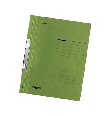 Schlitzhefter Karton voller Vorderdeckel grün A4 250g Behördenheftung