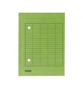 Umlaufmappe RC m. Gitterdruck grün A4 250g/qm Manila
