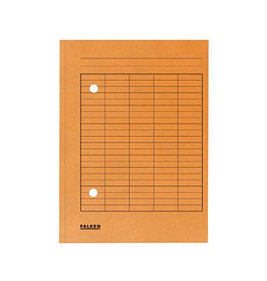Umlaufmappe A4 mit Gitterdruck orange 250g Manilakarton