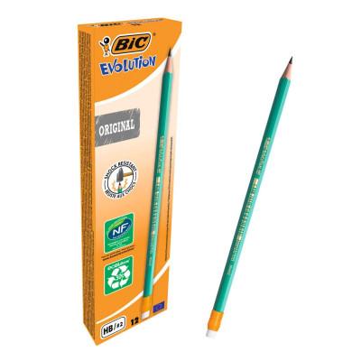 Bleistift Ecolutions HB m.Radierer 12 St