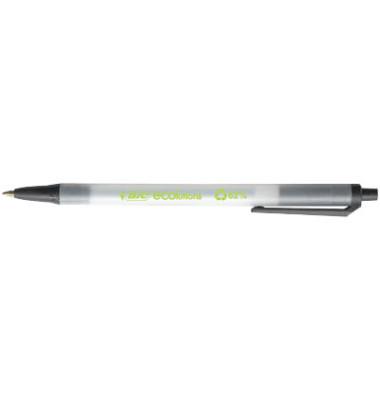 Kugelschreiber ECOlution Clic Stic transparent/schwarz Mine 0,4mm Schreibfarbe schwarz