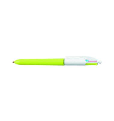 Mehrfarbkugelschreiber 4Colours Fashion hellgrün/weiß Mine 0,4mm Schreibfarbe 4-farbig
