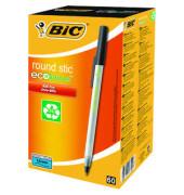 Kugelschreiber Ecolutions Stic transluzent/schwarz 0,4mm