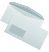 Kuvertierhüllen Kompakt mit Fenster nassklebend 75g weiß 1000 Stück