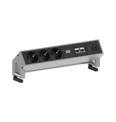 Modulsystem DESK2 3x Schuko 0,2m 2xCAT6 1xHDMI 1xUSB