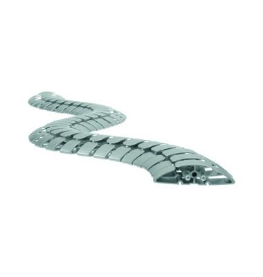 Kabelschlange PRO silber Länge 1m 90x24mm