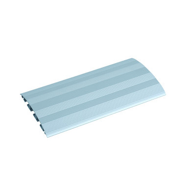 Kabelkanal Aluprofil geriffelt aluminium/silber Länge 1m 3 Kammern