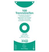 Trennstreifen 13305B Premium weiß 190g gelocht 240x105mm 100 Blatt