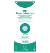 Trennstreifen 13315B Premium blau 190g gelocht 240x105mm 100 Blatt