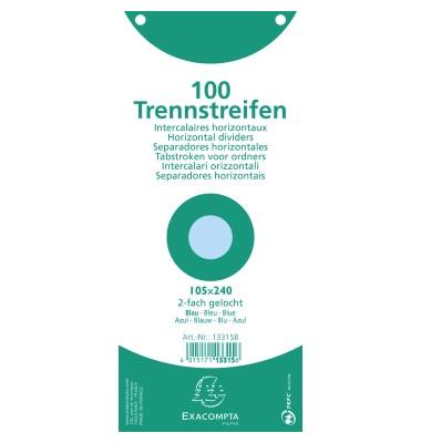 Trennstreifen Premium blau 190g gelocht 240x105mm 100 Blatt