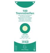 Trennstreifen 13345B Premium grün 190g gelocht 240x105mm 100 Blatt