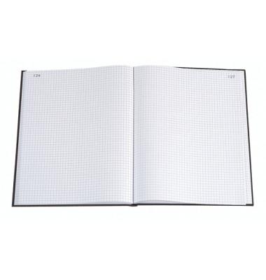 Geschäftsbuch 412E schwarz A4 kariert 110g 100 Blatt 200 Seiten paginiert