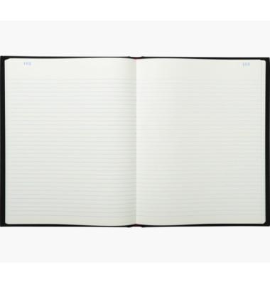 Geschäftsbuch 423E schwarz A4 liniert 110g 150 Blatt 300 Seiten paginiert