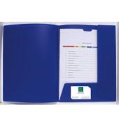 Präsentationsmappe Kreacover blau mit 2 Klappen