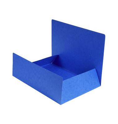 Aktenmappe Premium Manila blau A4 240x320mm 400g/qm