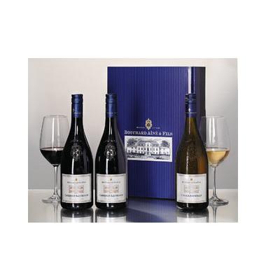 Geschenkset drei Weine im Bouchard Aîné Geschenkkarton