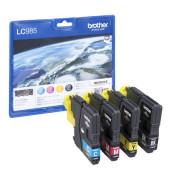 Druckerpatrone LC-985 schwarz / cyan / magenta / gelb 1x ca 300 Seiten / 3x ca 260 Seiten Multipack