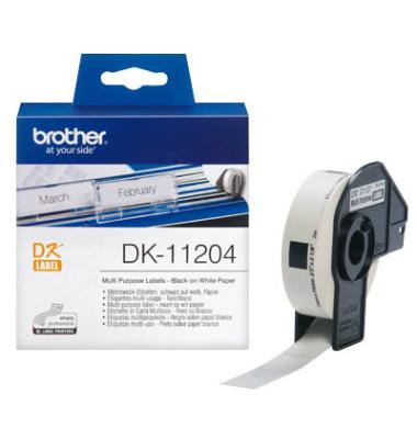 Etiketten DK-11204 17 x 54 mm weiß 400 Stück