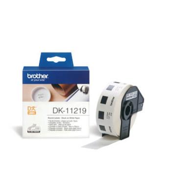 Etiketten rund für QL-500/550 weiß Ø 12mm DK-11219
