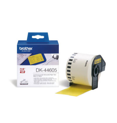 Etiketten DK-44605 GELB 62 mm x 30,48 m auf Rolle
