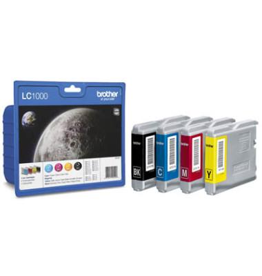 Druckerpatrone LC-1000 schwarz / cyan / magenta / gelb 1x ca 500 Seiten / 3x ca 400 Seiten Multipack