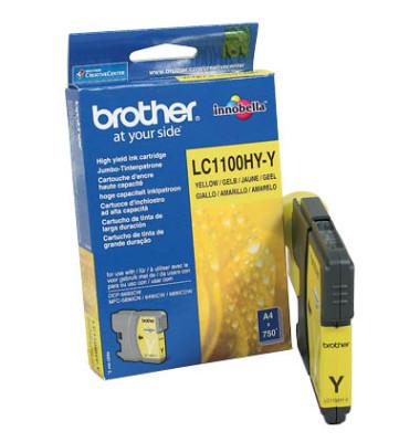 Druckerpatrone LC1100HYY gelb 750 Seiten