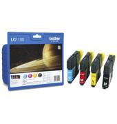 Druckerpatrone LC-1100 schwarz / cyan / magenta / gelb 1x ca 450 Seiten / 3x ca 325 Seiten Multipack