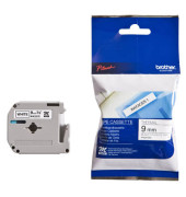 P-touch Schriftband MK-221SBZ 9mm x 4m schwarz/weiß selbstklebend