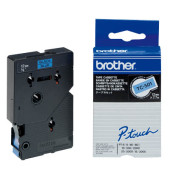 P-touch Schriftband TC-501 12mm x 7,7m schwarz/blau laminiert selbstklebend