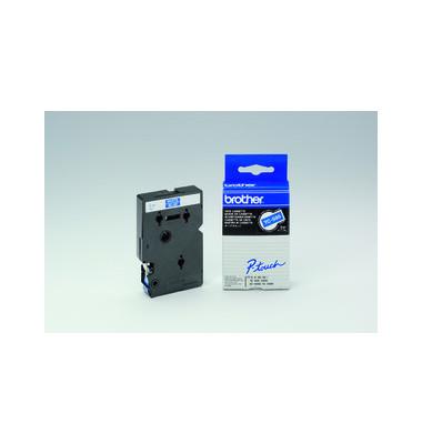 P-Touch Schriftband TC-595 weiß auf blau 9mm x 7,7m