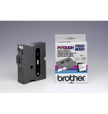 P-Touch Schriftband TX-251 schwarz auf weiß 24mmx15,4m
