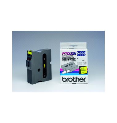 P-Touch Schriftband TX-651 schwarz auf gelb 24mm x 15,4m