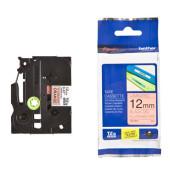 Schriftbandkassette TZe-B31 12mm x 5m sw/signalorange laminiert