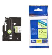 Schriftbandkassette TZe-C31 12mm x 5m sw/signalgelb laminiert