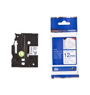 Schriftbandkassette TZe-FA3  12mm x 3m blau/weiß Textilband