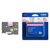 P-touch Schriftband TZe-MQP35 12mm x 5m weiß/pink laminiert selbstklebend