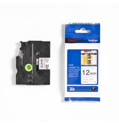 Schriftbandkassette TZe-N231 12mm x 8m schwarz/weiß