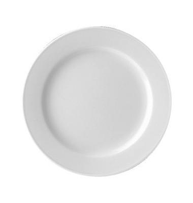 Teller flach Form 5382 weiß D:190 mm 6 Stück