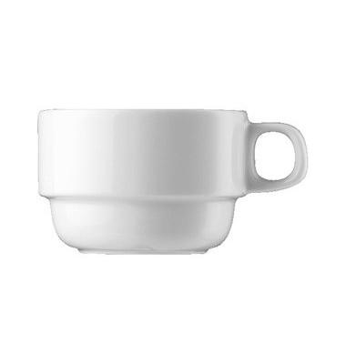 Kaffeetasse weiß Form 6200 Porzellan 180ml  6 Stück