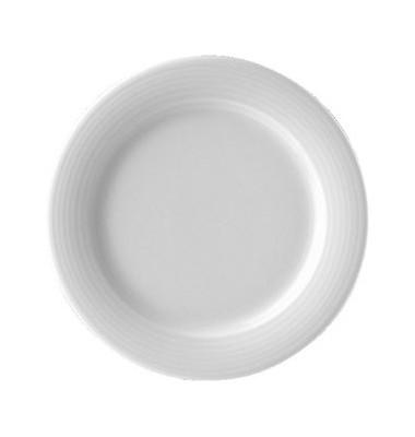 Dessertteller Dialog flach Ø 20,1cm weiß Porzellan stapelbar 6 Stück