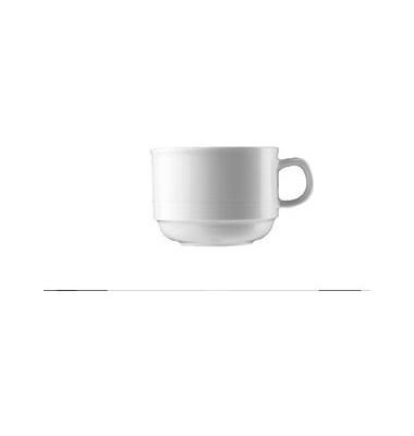 Kaffeetasse Dialog 180ml weiß Porzellan stapelbar 6 Stück