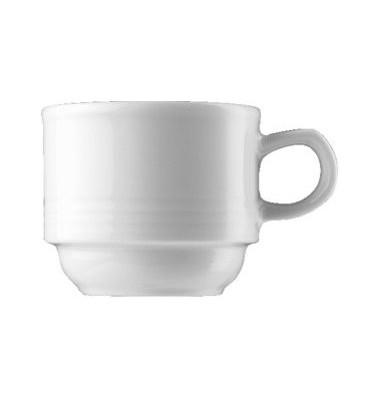 Espressotasse Dialog 90ml weiß Porzellan stapelbar 6 Stück