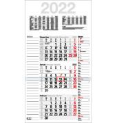 Dreimonatskalender Kombiplan B 3Monate/1Seite 3-sprachig 30x56cm 2021