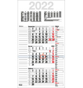 Dreimonatskalender Kombiplan B 3Monate/1Seite 3-sprachig 30x56cm 2019