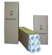 Plotterpapier Präsentation 610mm x 50m 90g weiß opak unbeschichtet 6 Rollen
