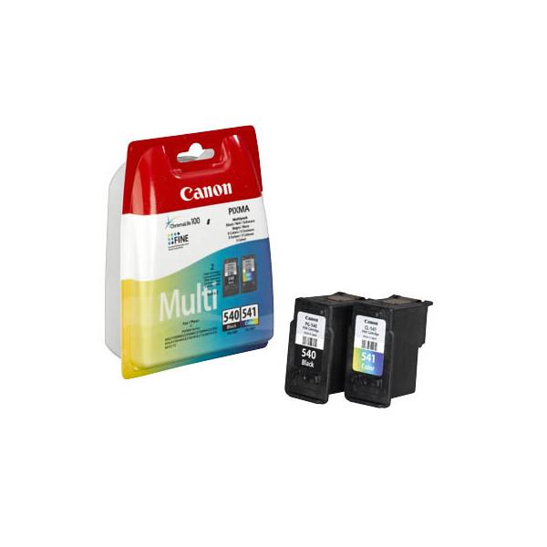 canon druckerpatrone pg 540 cl 541 sw 3farbig 180 seiten 2er pack. Black Bedroom Furniture Sets. Home Design Ideas