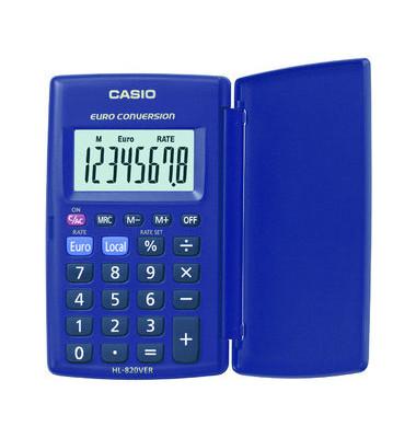 Taschenrechner HL-820VER Batterie LCD-Display blau 1-zeilig 8-stellig