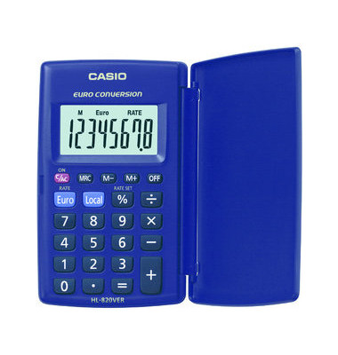 Taschenrechner HL-820VER 8-stellig blau